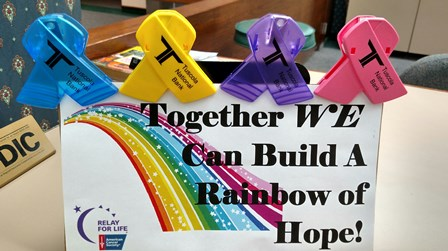 Together we can build a rainbow of hope